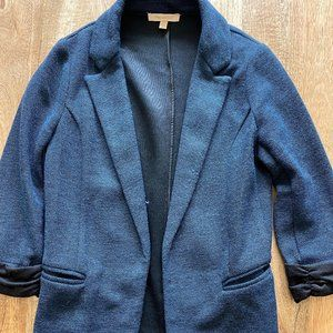 Skies Are Blue Ruched Navy Blazer - Size XS